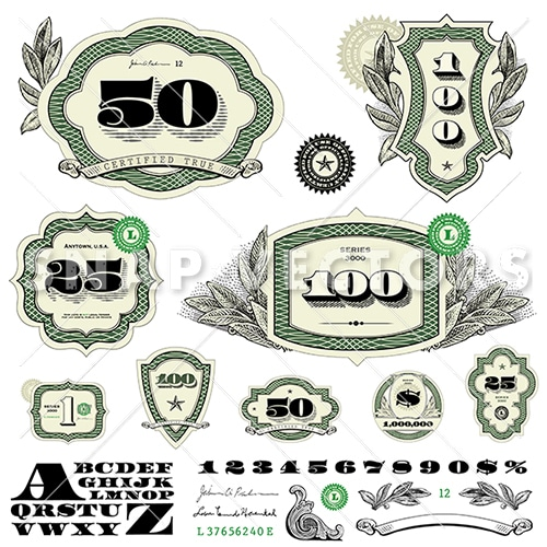 Money Logo Vector Frame Set - Snap Vectors