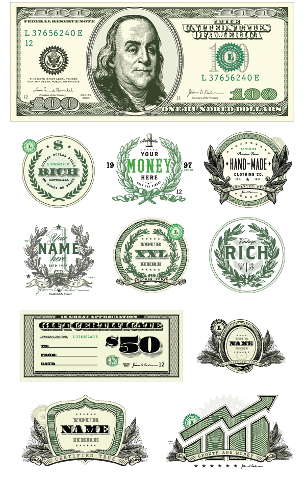 Money Clipart Vector Set