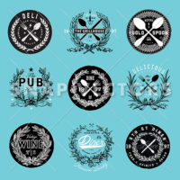 Blue-Vector-Restaurant-Logo-Set-