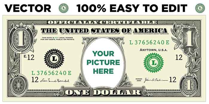 How To Create A Personalized Dollar Bill Snap Vectors