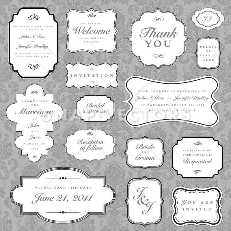 Vector Clipart Vintage Frame Set - Snap Vectors